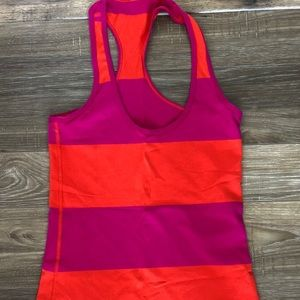 Lululemon Seawheeze Striped Cool Racerback Tank